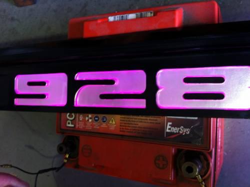 ポルシェ 928 LEDスカッフプレート